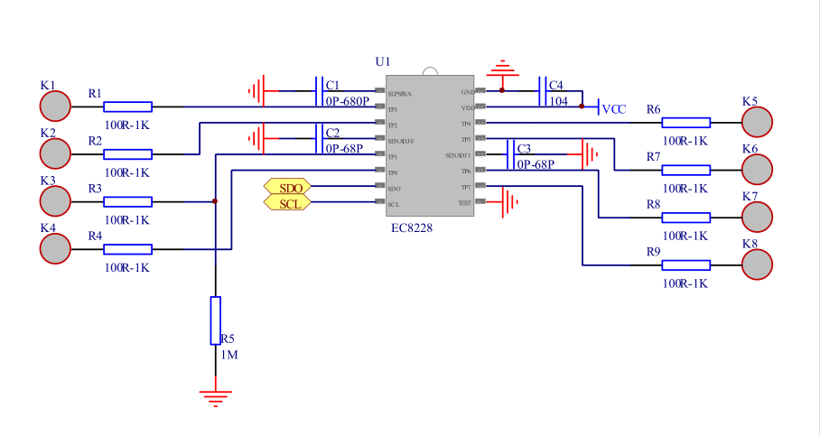 电容式触摸按键ic芯片