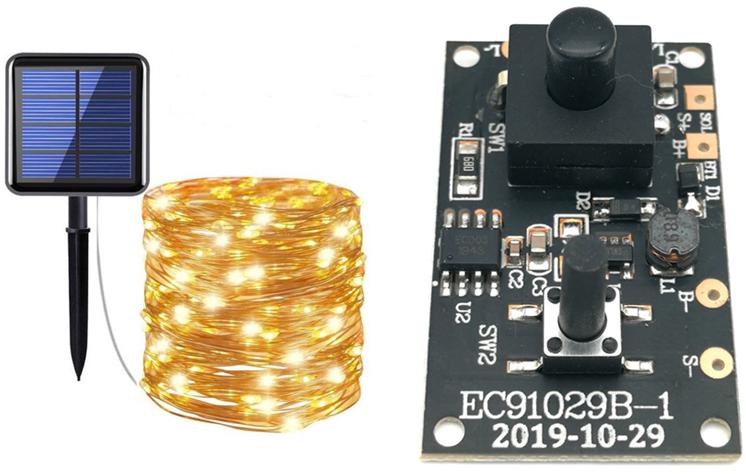 太阳能灯串PCBA(100灯)