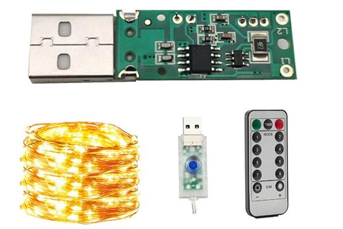 100灯USB遥控灯串电路板
