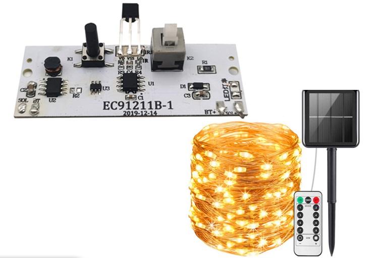 太阳能遥控灯串电路板