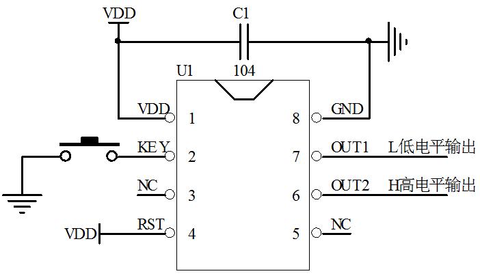 低功耗一键开关机芯片